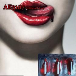E-AE3107 Halloween Cos Ultra-realistic mischief Fake Blood capsule 6PCS/LOT