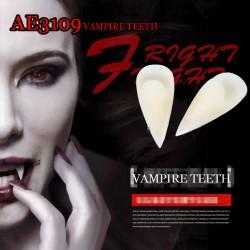 E-AE3109 Horrific Fun Clown Dress Vampire Teeth Halloween Party Dentures Props Zombie Devil Fangs Tooth With Dental Gum