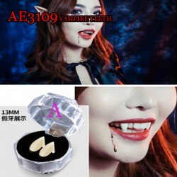 AE3109 Horrific Fun Clown Dress Vampire Teeth Halloween Party Dentures Props Zombie Devil Fangs Tooth With Dental Gum