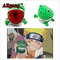 Naruto Cute Green Frog Coin Bag Cosplay Props Plush Toy Purse Wallet Funny Gift Sundries Money Bag AE3225