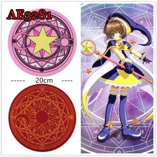 Anime Cosplay Card Captor Sakura mousepad Halloween Props AE3281