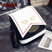 Card Captor Sakura Schoold Bag Backpack Magical Card Bag Halloween Carnival Cosplay Anime PU Backpack AE3301
