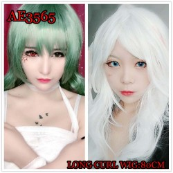 AE3565 LONG CURL WIGS COSPLAY COLORFUL FAKE HAIR
