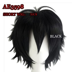 AE3598 MULTI USE COSPLAY ANMIE SHORT WIG 30CM