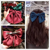 Lolita Big Hair Bow Ties Hair Clips Satin Two Layer Butterfly Bow Hairpin Girl Hair Accessories for Women Bowknot Hairpins AE3801