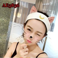 Sailor Moon Luna Cat Ears Hair Band Hair Accessory Headband Cosplay Cute Face Washing Clean Makeup Tool Lolita Headwear AE3836