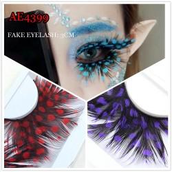 AE4399 COSPLAY COLORFUL FEATHER FAKE EYELASH