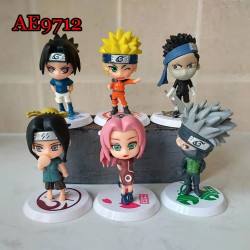E-AE9712-18 6PCS/PACK NARUTO ANIME ACTION FIGURE CAKE TOPPERS