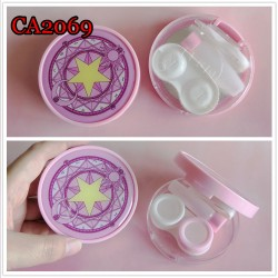 CARD CAPTOR SAKURA ROUND PINK CONTACT LENS CASE CA2069