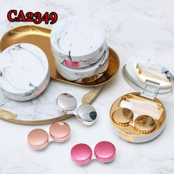 CA2349 MARBLE PATTERN ROUND CONTACT LENS CASE