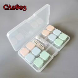 D-CA2803 JELLY CAP 6PCS/SET COLORFUL CONTACT LENS CASE