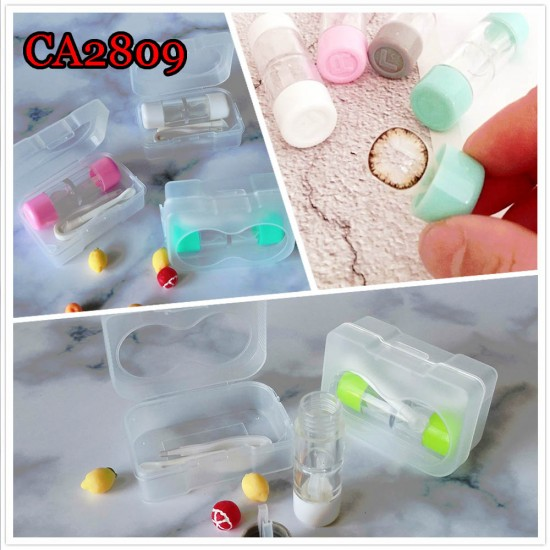 TUBE STYLE HARD AND SOFT CONTACT LENS CASE CA2809