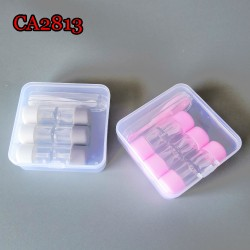 TUBE STYLE 3PCS/SET HARD AND SOFT COLORFUL CONTACT LENS CASE CA2813