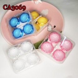 CA3069 2PAIRS DIAMOND SHARP COLOR CONTACT LENS CASE