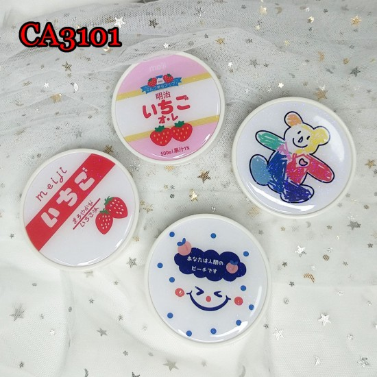 CONTACT LENS CASE ROUND TRAVEL BOX CA3101