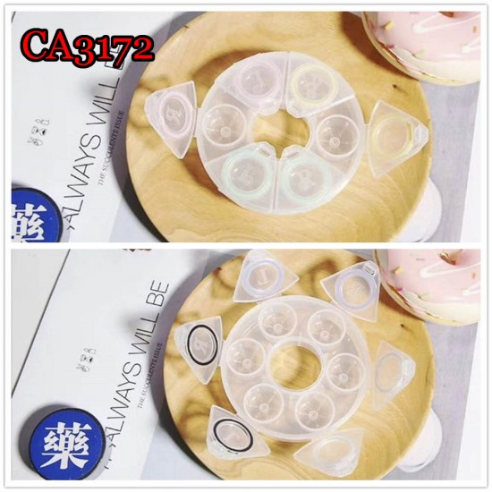 CA3172 3PAIRS SET PP COLORFUL CONTACT LENS CASE