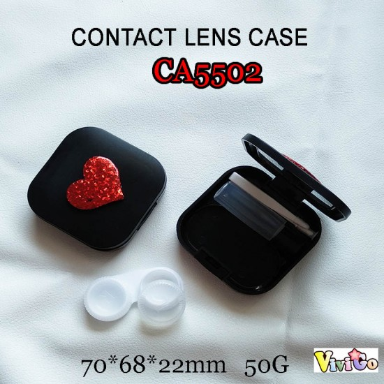 CA5502 BLINGBLING HEART DECO COLORFUL CONTACT LENS CASE