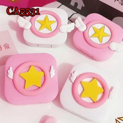 CA5531 CARD CAPTER SAKURA STAR AND WING DECO COLORFUL CONTACT LENS CASE