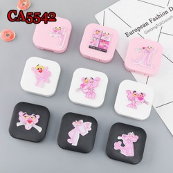 CA5542 PINK PANTHER SQUARE CONTACT LENS CASE