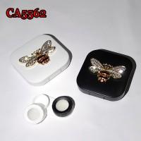 RETRO METAL DIAMOND BEE DECO CONTACT LENS CASE CA5562