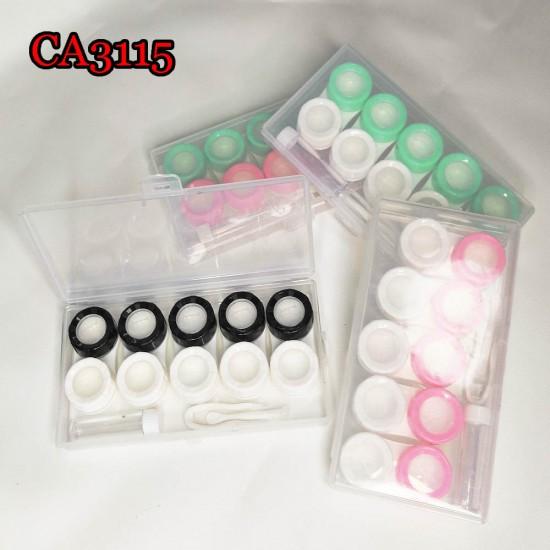 CONTACT LENS CASE 3PAIRS SET LENSES BOX CA3113