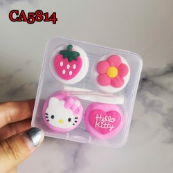 D-CA5814 PINKY HELLO KITTY 2PAIRS CONTACT LENS CASE