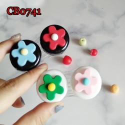 FLOWER DECO CONTACT LENS CASE CB0741