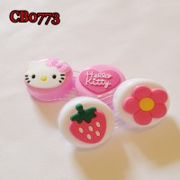 CB0773 STRAWBERRY AND KITTY DECO CONTACT LENS DUALBOX