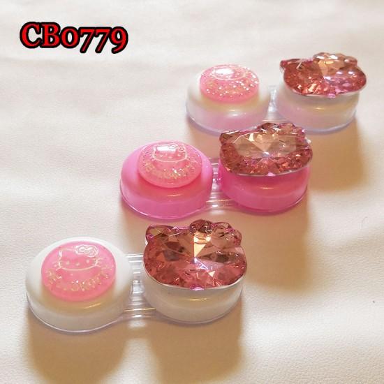 CB0779 BLING BLING DIAMOND PINK KITTY DECO CONTACT LENS DUALBOX