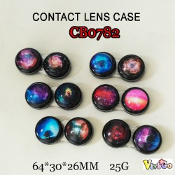 CONTACT LENS CASE GALAXY AND MILKYWAY CRYSTAL TRAVEL BOX CB0782