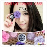 CONTACT LENS CASE FLOWER TRAVEL BOX CB0787