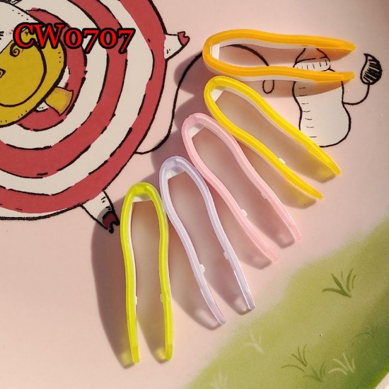 CW0707 SMALL SILICONE COVER SOFT CONTACT LENS TWEEZERS