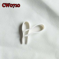 CW0710 SMALL 42mm WHITE SOFT CONTACT LENS TWEEZERS