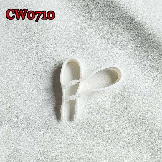 D-CW0710 SMALL 42MM WHITE SOFT CONTACT LENS TWEEZERS