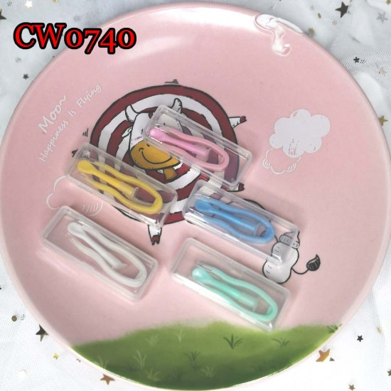D-CW0740 SOFT COLORFUL PLASTIC CONTACT LENS TWEEZERS AND INSERTER SET