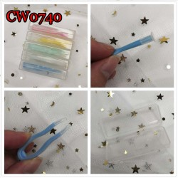 CW0740 SOFT COLORFUL PLASTIC CONTACT LENS TWEEZERS AND INSERTER SET