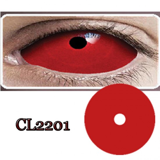 CL2201 SCLERA 22MM COLOR CONTACT LENS RED RING  (PAIR)