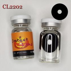 C-CL2202 BLACK SCLERA COLOR CONTACT LENS (2PCS/PAIR)