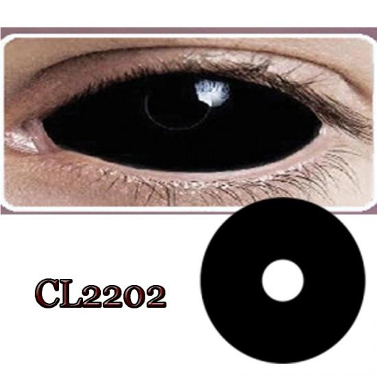 CL2202 BLACK SCLERA COLOR CONTACT LENS (2PCS/PAIR)