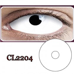 CL2204 SCLERA 22MM COLOR CONTACT LENS WHITE RING  (PAIR)