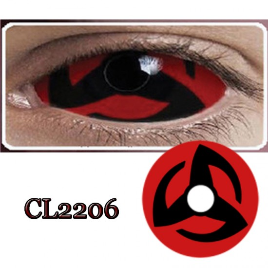 CL2206 SCLERA 22MM COLOR CONTACT LENS NARUTO KAKASHI (PAIR)