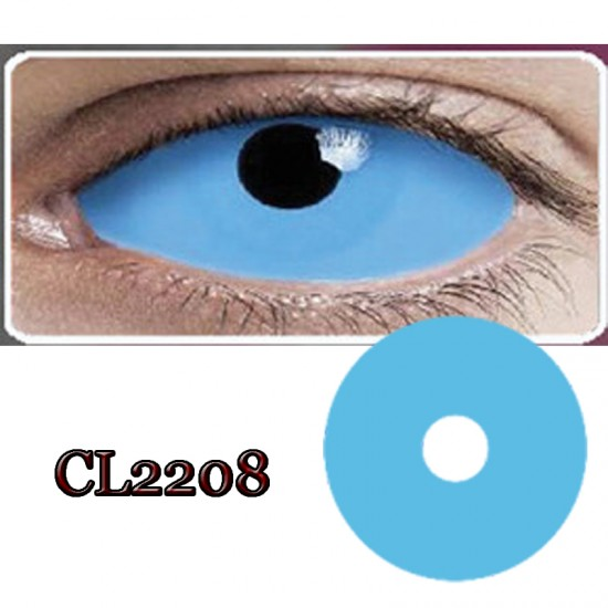 CL2208 SCLERA 22MM COLOR CONTACT LENS BLUE RING  (PAIR)