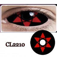 CL2210 SCLERA 22MM COLOR CONTACT LENS NARUTO SASUKI (PAIR)