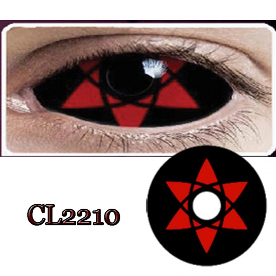 CL2210 SCLERA 22MM COLOR CONTACT LENS NARUTO SASUKI (PAIR)