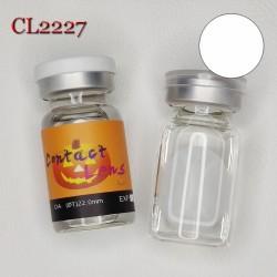 C-CL2227 SCLERA 22MM COLOR CONTACT LENS BLIND ZOMBIE WHITE (2PCS/PAIR)
