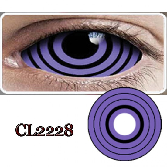 CL2228 SCLERA 22MM COLOR CONTACT LENS NARUTO VIOLET SPRIAL (PAIR)