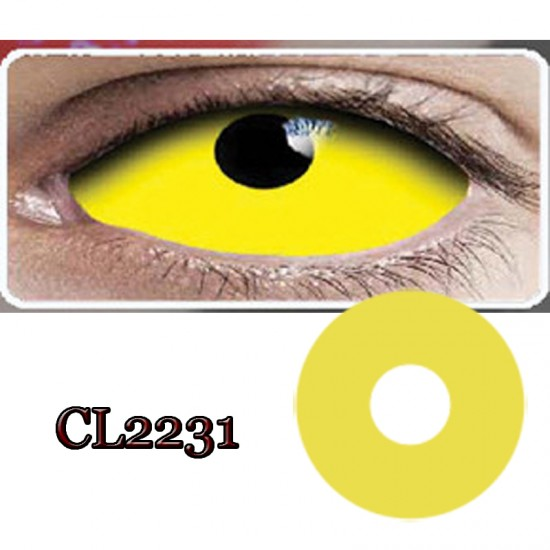 C-CL2231 YELLOW RING 22MM SCLERA COLOR CONTACT LENS (2PCS/PAIR)