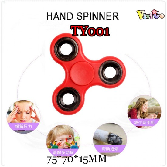 E-TY001 PURE COLOR 3-WHEEL HAND SPINNER