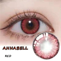 ANNABELL RED COLOR SOFT CONTACT LENS  (2PCS/PAIR)
