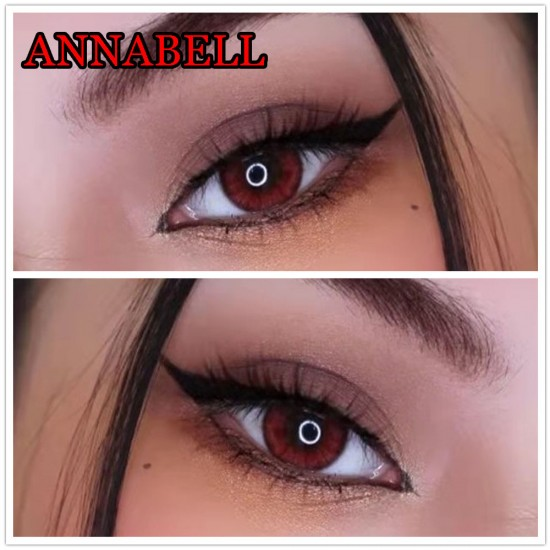 B-ANNABELL RED COLOR SOFT CONTACT LENS  (2PCS/PAIR)